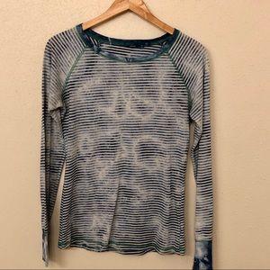 Prana Striped Long Sleeve T-shirt M